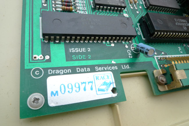 Made by Race Electronics for Dragon Data