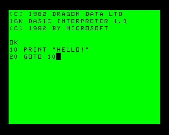 Dragon 32, BASICally