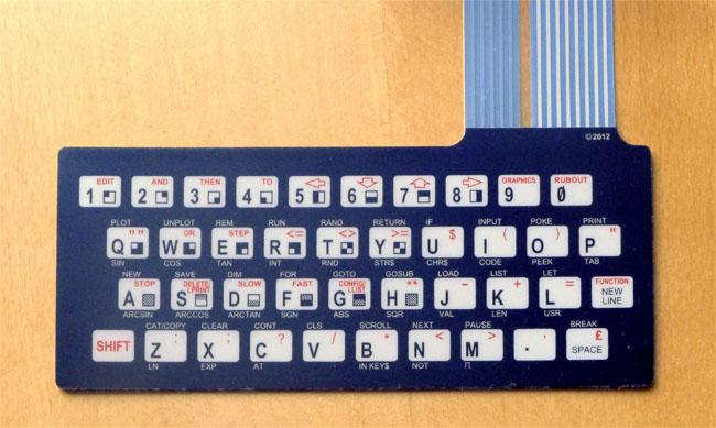 The ZX81 membrane keyboard