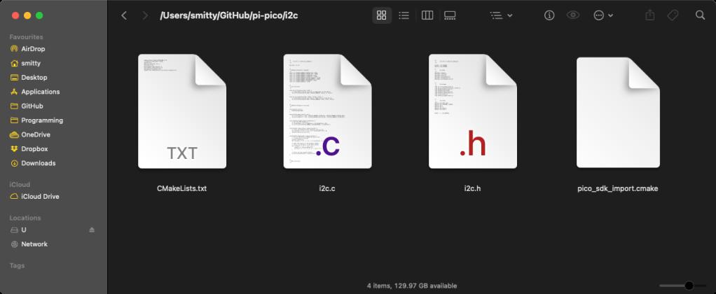 A basic Pi Pico C project file set