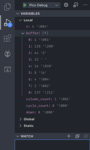 The debugger will show you your variables' values